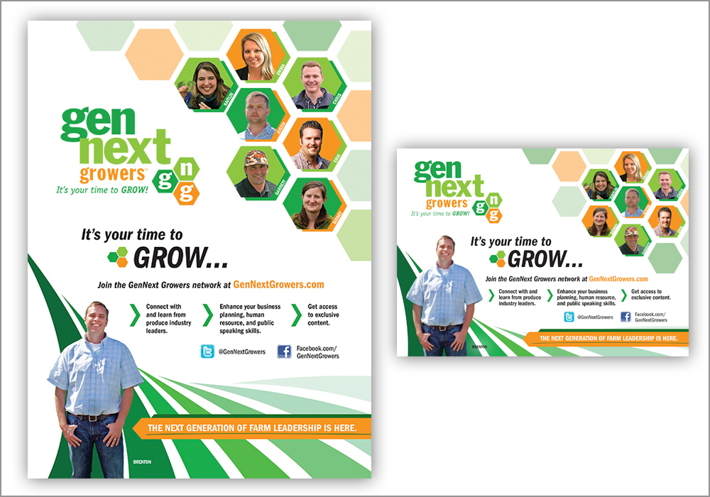GenNext Growers Print Ads