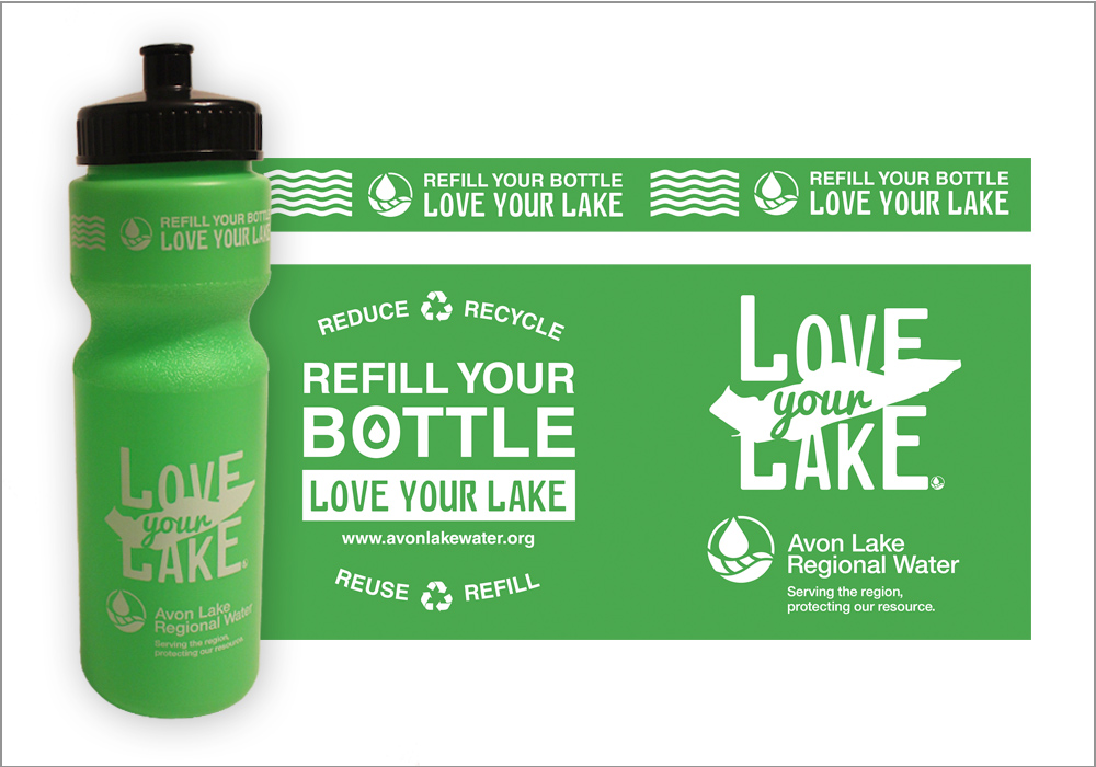 Love Your Lake Water Bottles