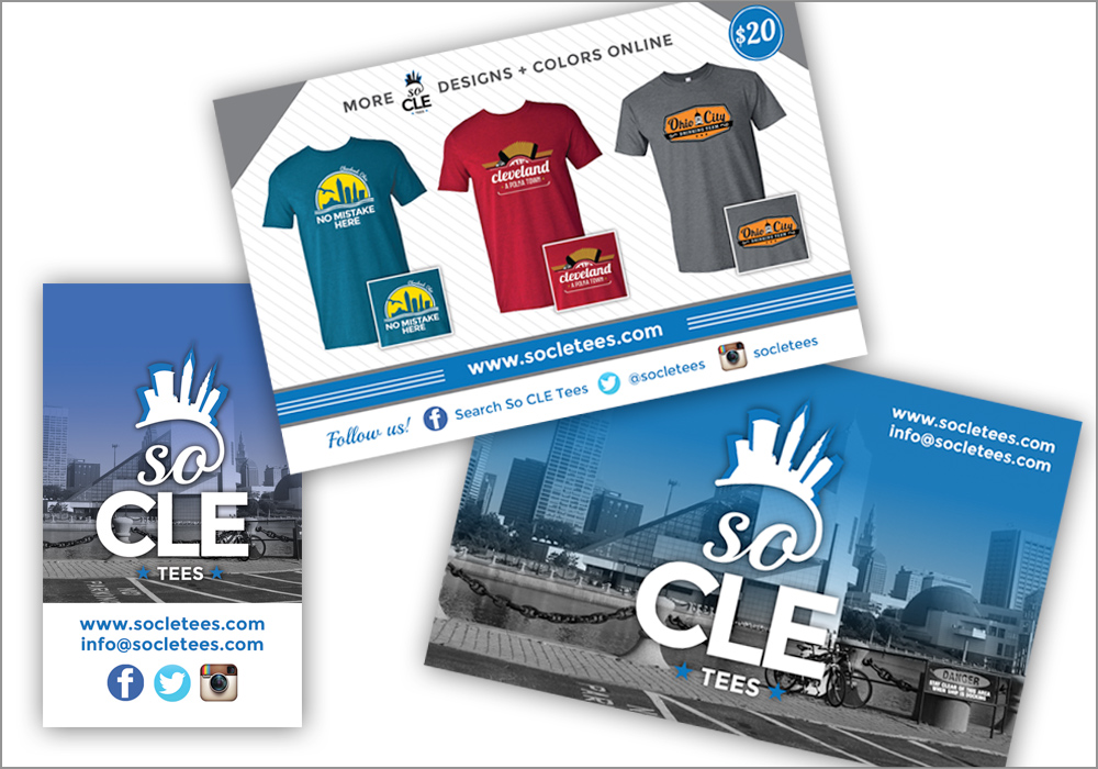 So CLE Tees Clothing Tag and Flyer